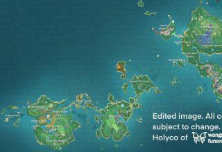Genshin Impact 1.7 Güncellemesinin Inazuma Bölge Haritası